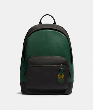 WEST BACKPACK IN COLORBLOCK WITH COACH PATCH