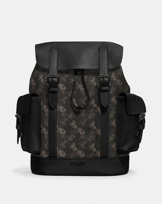 HUDSON BACKPACK WITH HORSE AND CARRIAGE PRINT