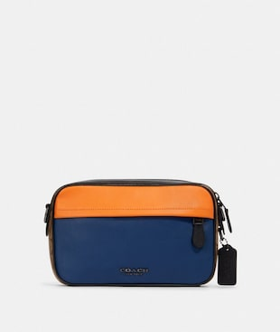GRAHAM CROSSBODY IN COLORBLOCK SIGNATURE CANVAS