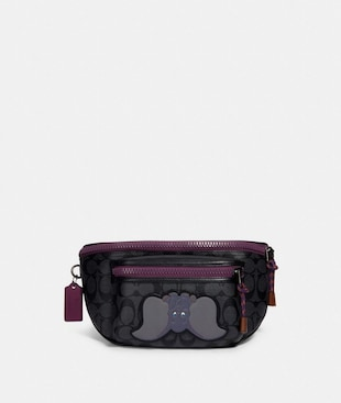 DISNEY X COACH TERRAIN BELT BAG IN SIGNATURE CANVAS WITH DUMBO