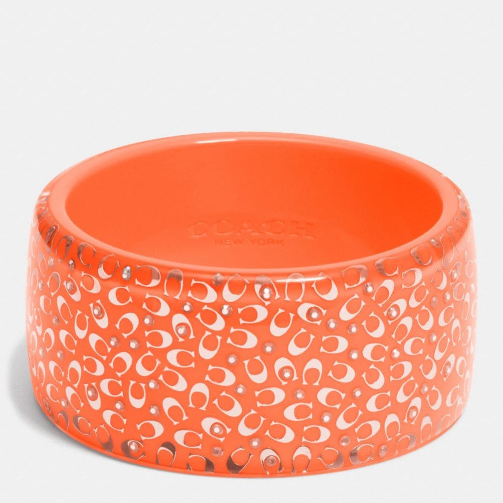 C.O.A.C.H. WIDE RESIN BANGLE