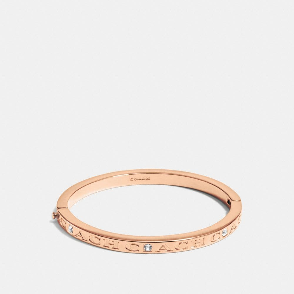 COACH PAVE HINGED METAL BANGLE