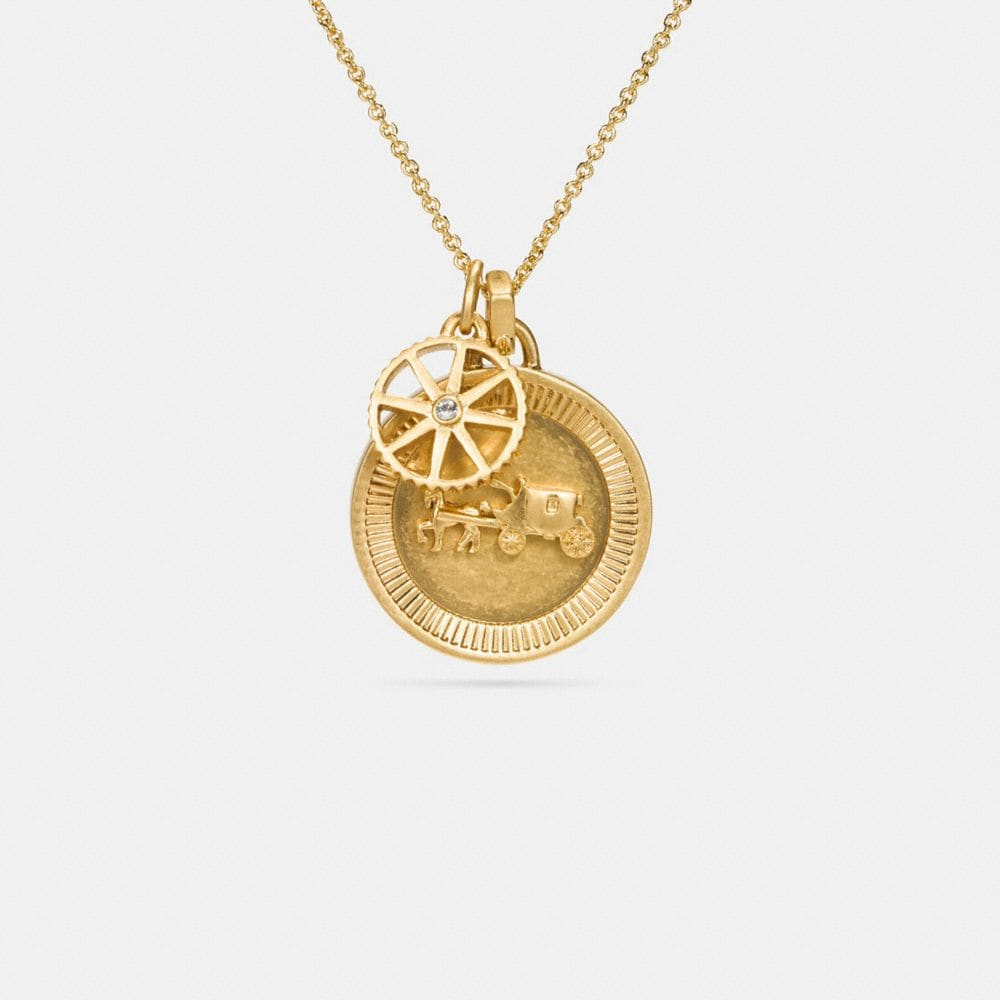 HORSE AND CARRIAGE COIN NECKLACE