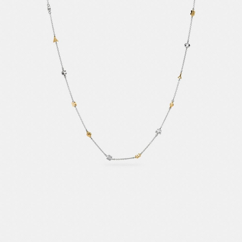 PAVE COACH RIVET NECKLACE