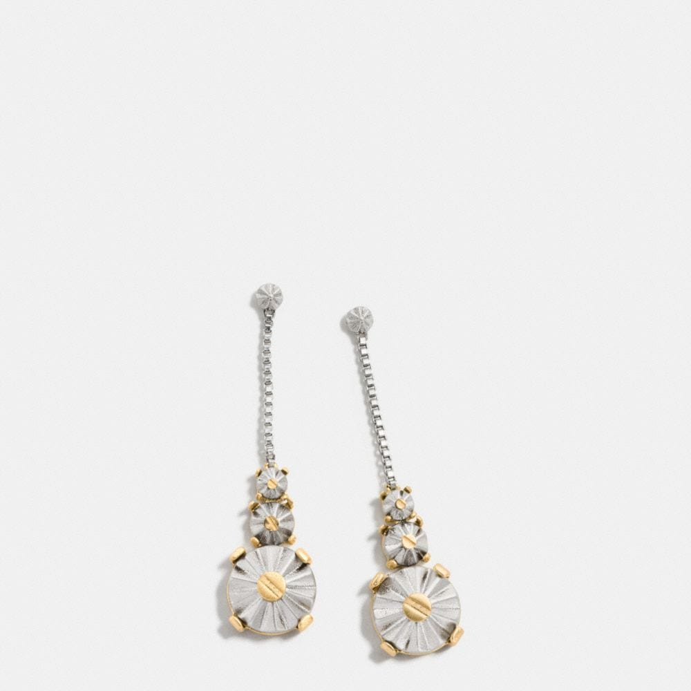 DAISY RIVET DROP EARRINGS