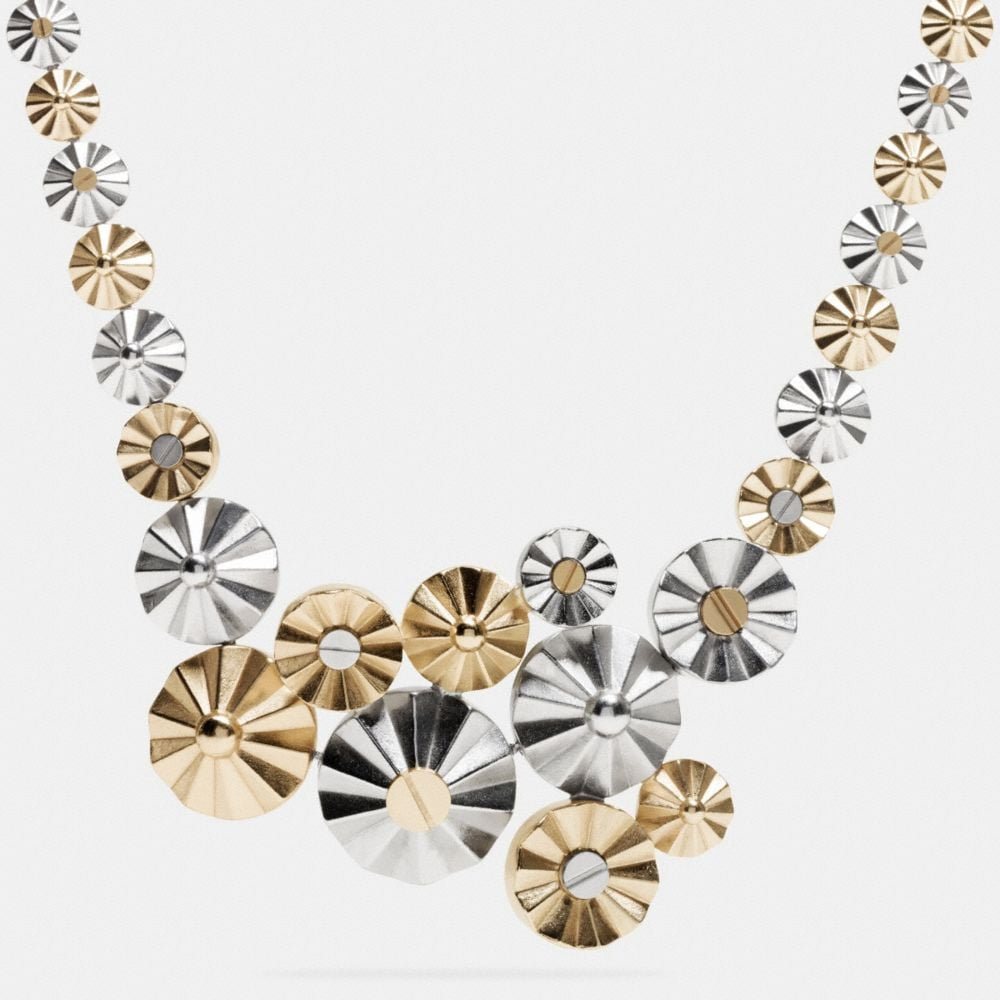 CLUSTERED DAISY RIVET NECKLACE