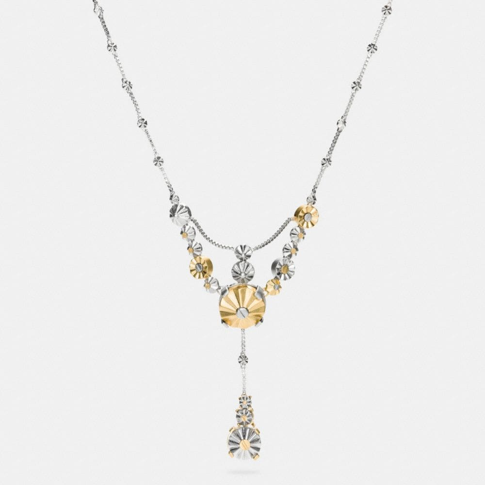 DAISY RIVET DROP NECKLACE