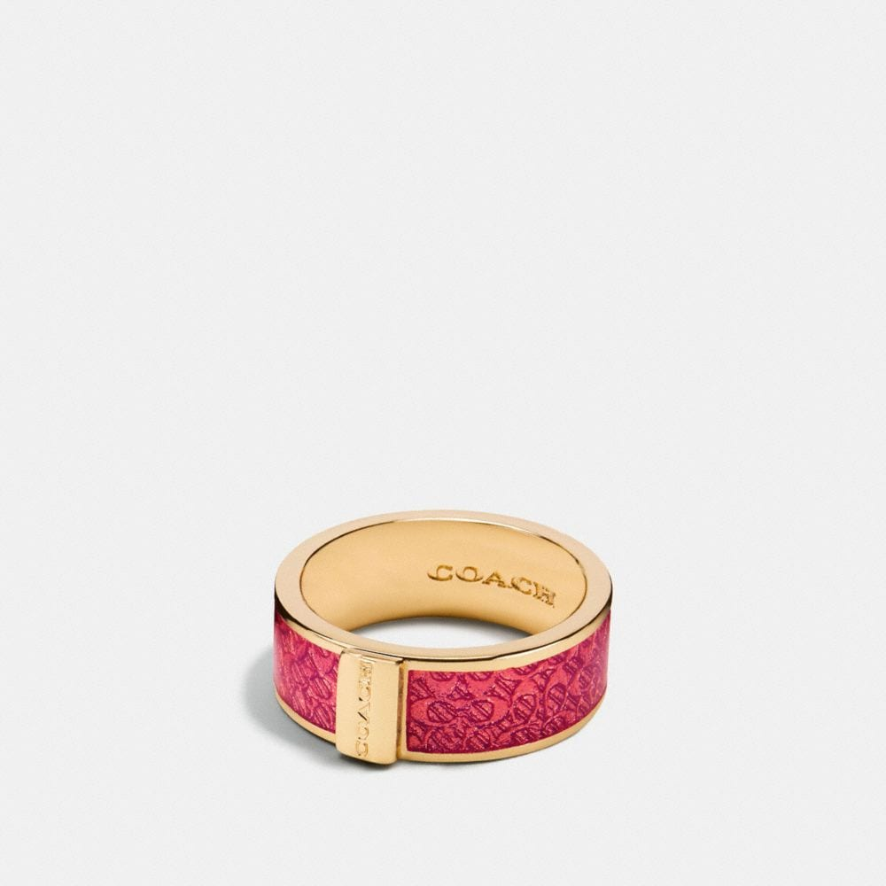 ENAMEL SIGNATURE RING