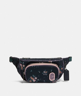 COURT BELT BAG WITH ROSE BOUQUET PRINT