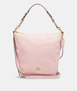 ABBY SHOULDER BAG WITH ROSE BOUQUET PRINT INTERIOR
