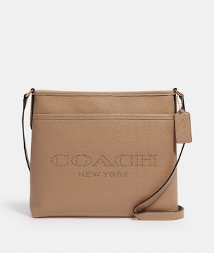 FILE BAG WITH COACH PRINT