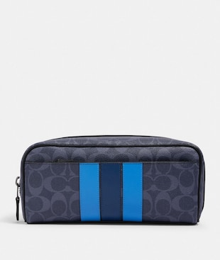 DOPP KIT IN SIGNATURE CANVAS WITH VARSITY STRIPE