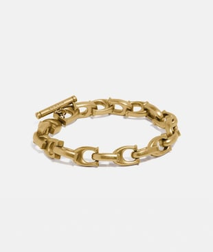 SCULPTED SIGNATURE CHAIN BRACELET