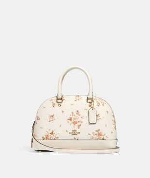 MINI SIERRA SATCHEL WITH ROSE BOUQUET PRINT
