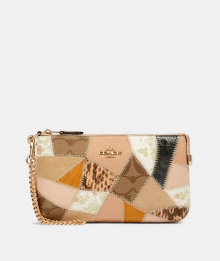 LARGE WRISTLET WITH PATCHWORK