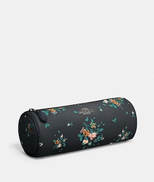 MAKEUP BRUSH HOLDER WITH ROSE BOUQUET PRINT