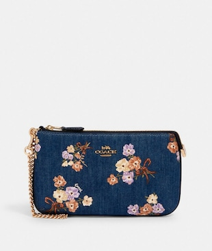 LARGE WRISTLET WITH PAINTED FLORAL BOX PRINT