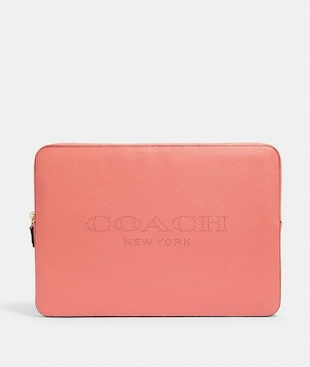 LAPTOP SLEEVE WITH COACH PRINT