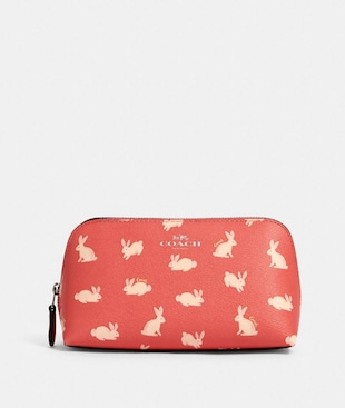 COSMETIC CASE 17 WITH BUNNY SCRIPT PRINT