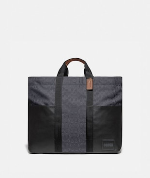 REVERSIBLE PACER TOTE IN SIGNATURE CORDURA® FABRIC WITH COACH PATCH