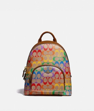 CARRIE BACKPACK 23 IN RAINBOW SIGNATURE CANVAS