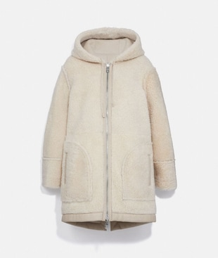 PARKA DOUBLE FACE IN SHEARLING