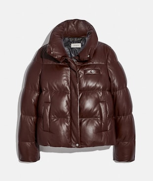 LEATHER PUFFER BLOUSON