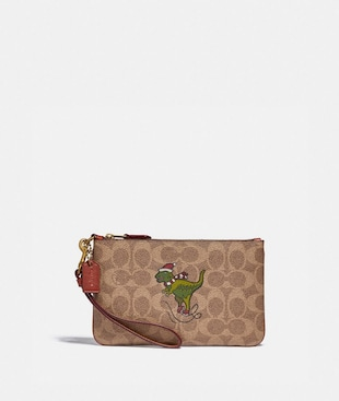 BOXED SMALL WRISTLET IN SIGNATURE CANVAS WITH REXY