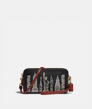 KIRA CROSSBODY WITH STARDUST CITY SKYLINE