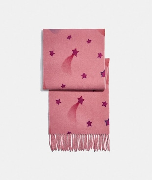 REVERSIBLE SIGNATURE DISCO STAR PRINT MUFFLER