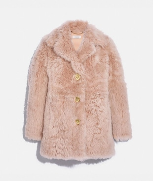 SHEARLING COAT WITH TURNLOCKS