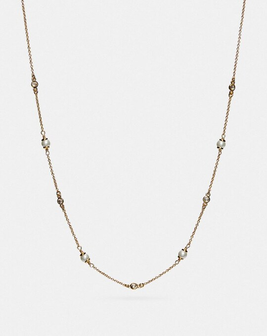 CLASSIC CRYSTAL PEARL NECKLACE