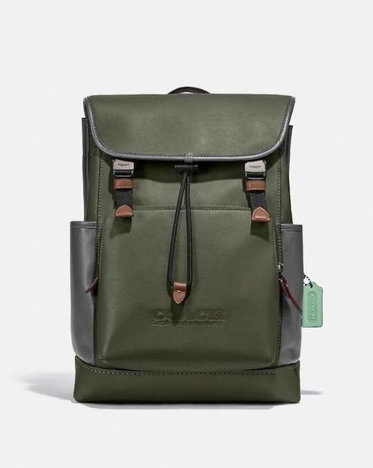 LEAGUE FLAP BACKPACK IN COLORBLOCK