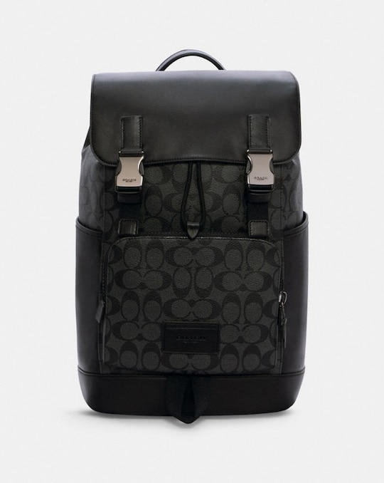 TRACK BACKPACK IN SIGNATURE CANVAS