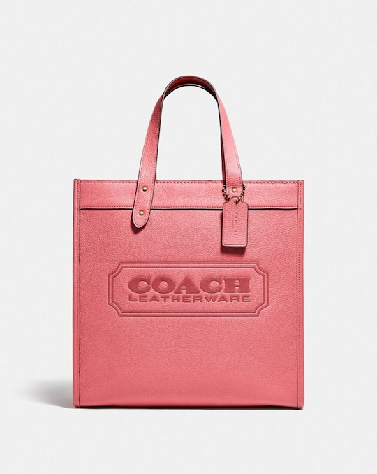 FIELD TOTE WITH COACH BADGE
