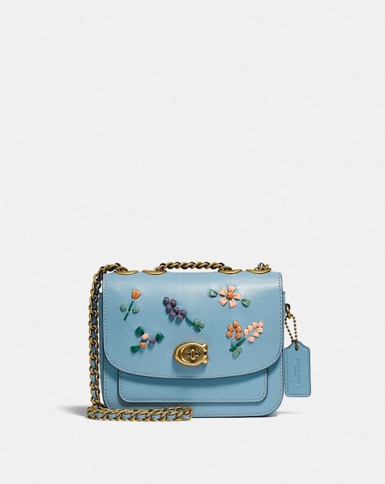 BOLSO DE HOMBRO MADISON 16 CON BORDADO FLORAL