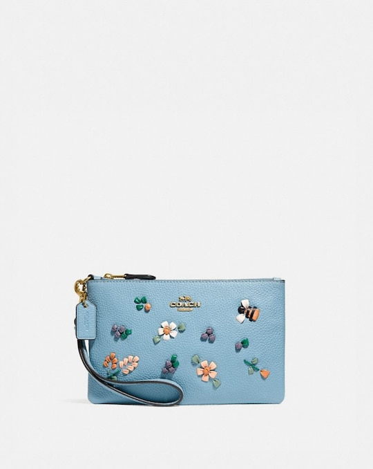 SMALL WRISTLET WITH FLORAL EMBROIDERY
