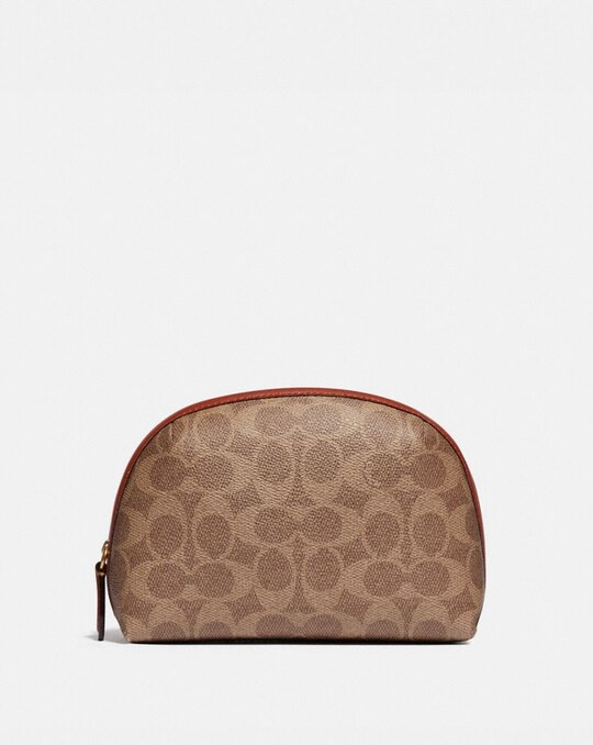 JULIENNE COSMETIC CASE 17 IN SIGNATURE CANVAS