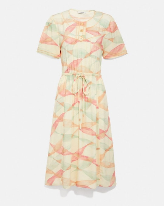 TROMPE L'OEIL SHORT SLEEVE DRESS