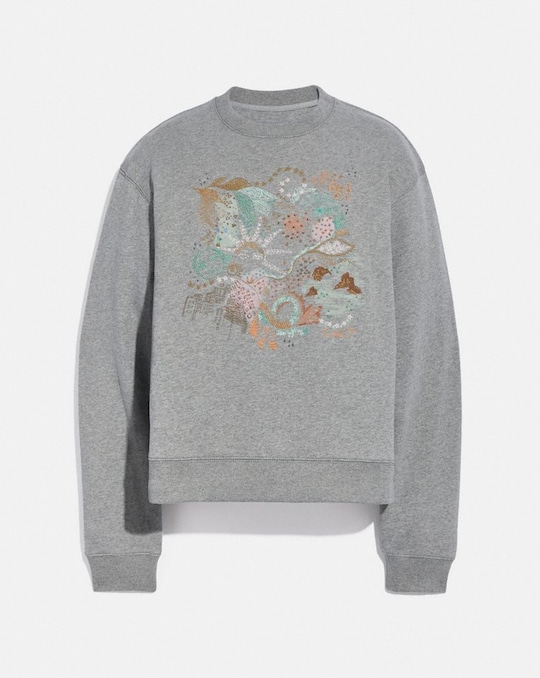 DOODLE EMBROIDERED SWEATSHIRT IN ORGANIC COTTON