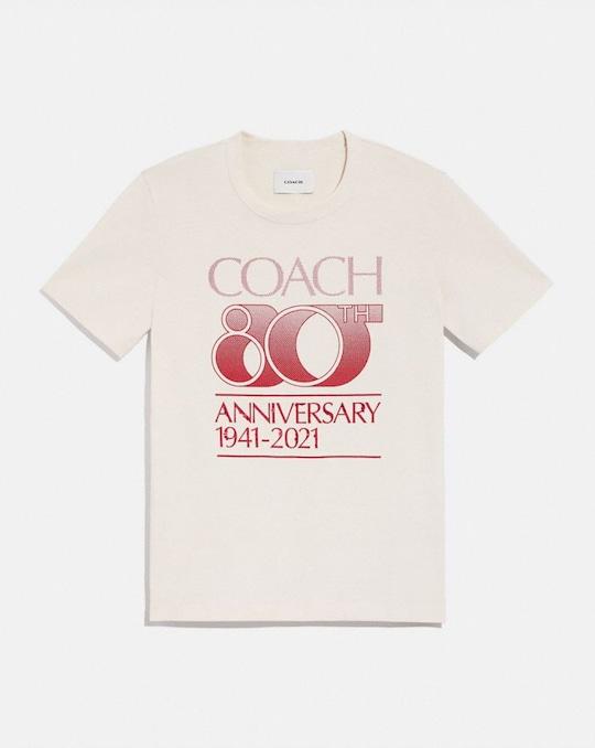 COACH 80TH ANNIVERSARY T-SHIRT IN ORGANIC COTTON