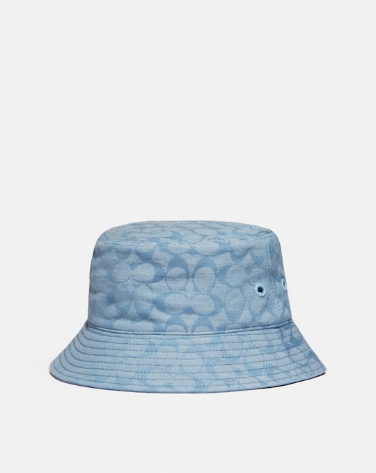 SIGNATURE DENIM BUCKET HAT