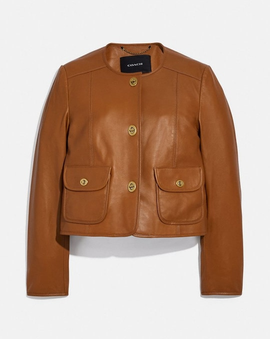 CARDI LEATHER JACKET