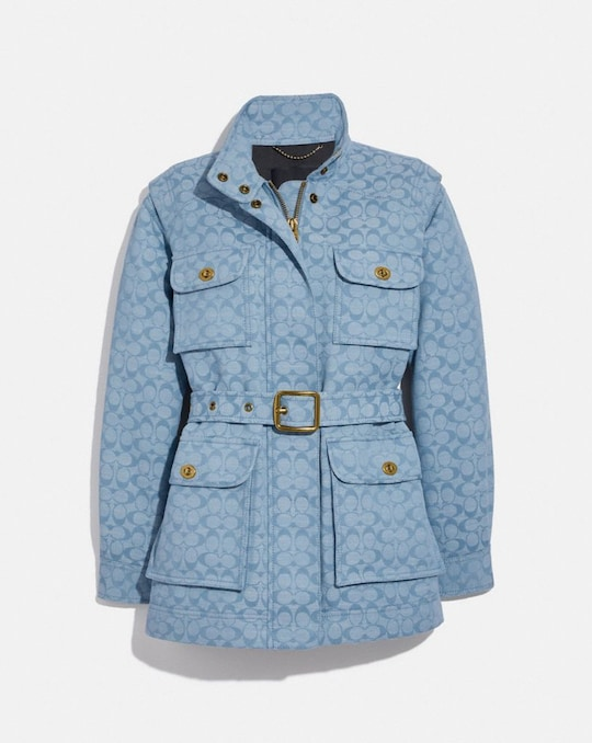 VESTE FIELD EN CHAMBRAY EXCLUSIF