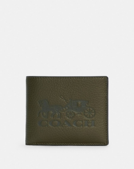 3-IN-1 WALLET IN COLORBLOCK WITH HORSE AND CARRIAGE