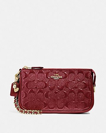 LARGE WRISTLET 19 IN SIGNATURE LEATHER