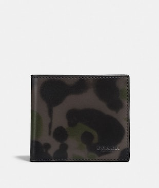 COIN WALLET WITH WILD BEAST PRINT