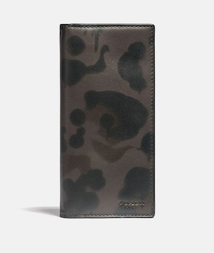BREAST POCKET WALLET WITH WILD BEAST PRINT