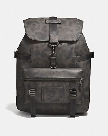 BLEECKER UTILITY BACKPACK WITH WILD BEAST PRINT