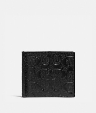 MONEY CLIP BILLFOLD IN SIGNATURE LEATHER